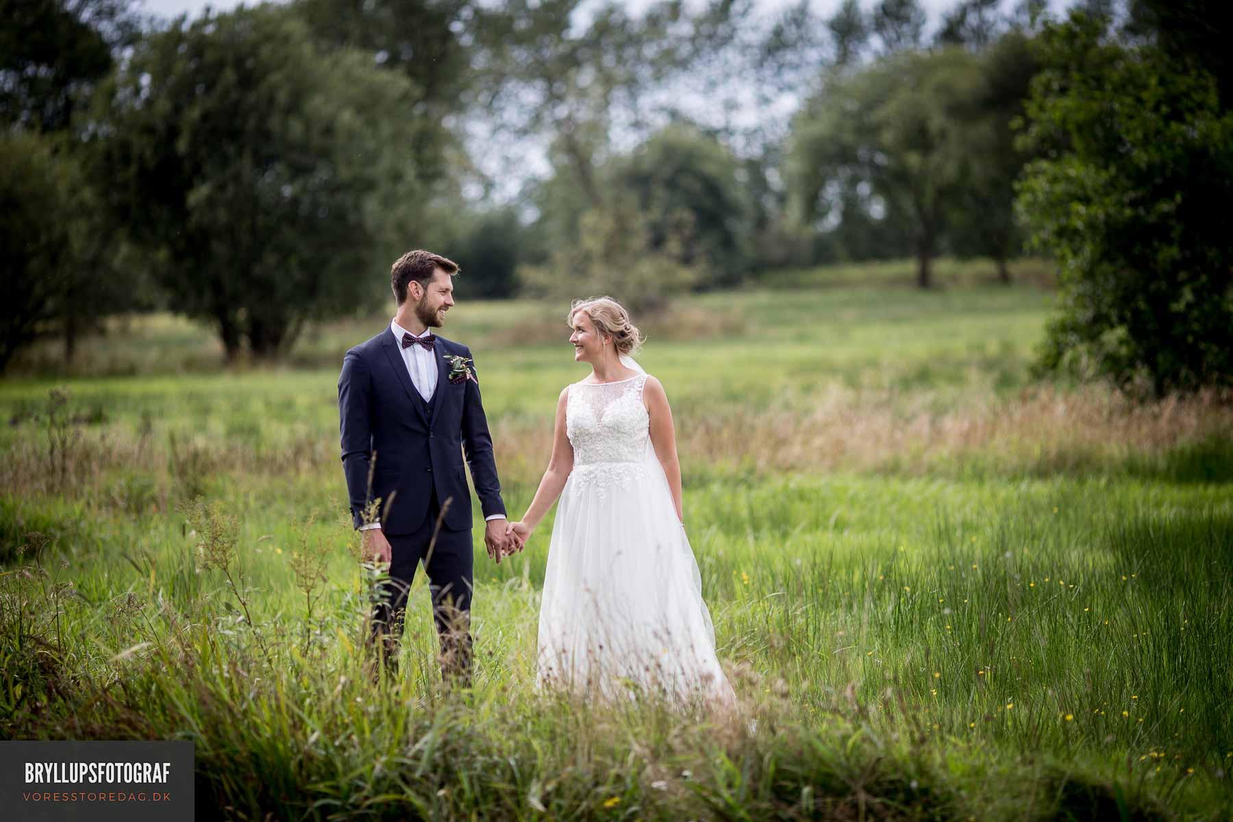 Bryllupsfotografering på Fyn & i Jylland